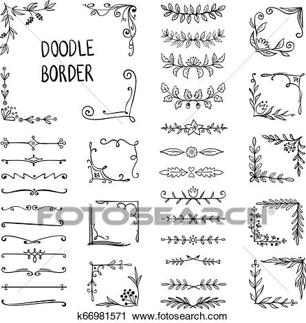 Doodle Border Flower Ornament Frame Hand Drawn Decorative Corner Elements Floral Sketch Pattern Vector Doodle Frame Clipart In 2020 Doodle Borders How To Draw Hands Doodle Frame