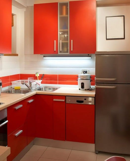 Image Of: Small Efficient Kitchen Design