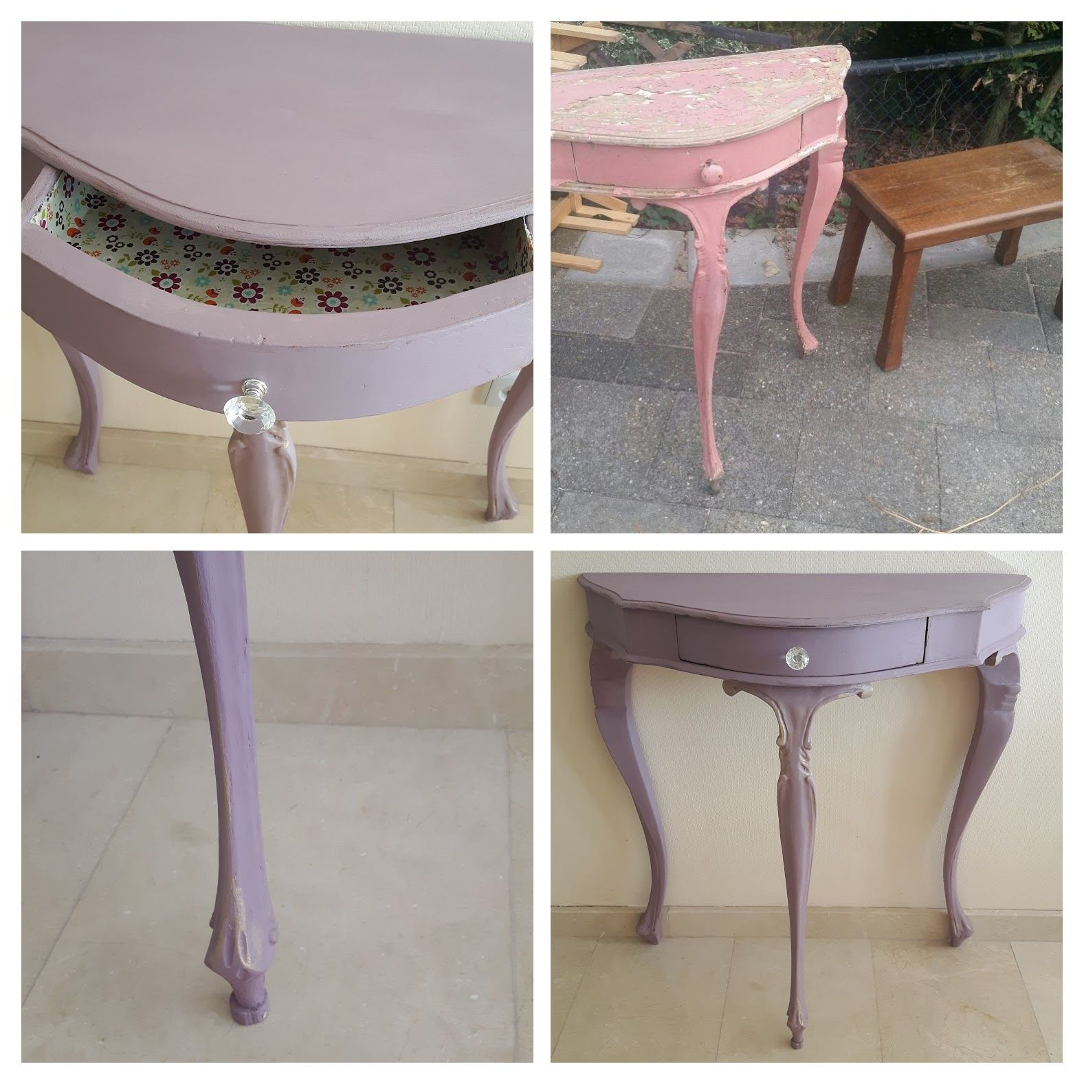 Makeover vanity table entrance hall table side table the best