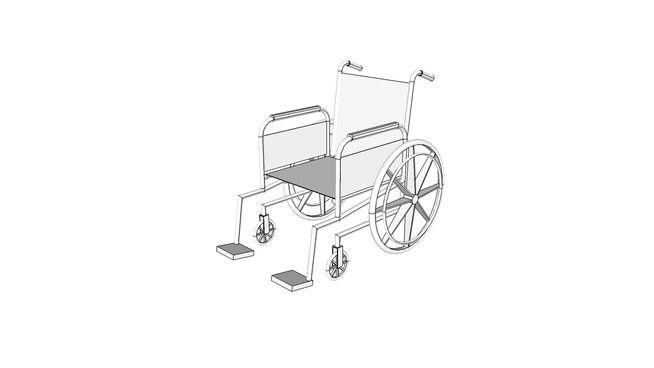 M4705-Wheelchair,PatientTransport,Folding - 3D Warehouse
