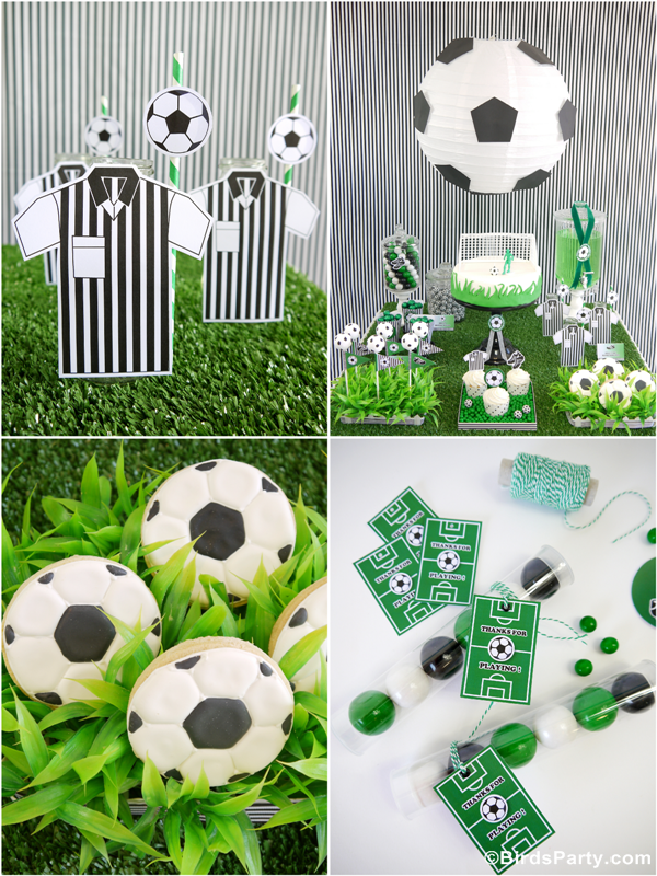 Soccer Football Birthday Party Desserts Table Printables