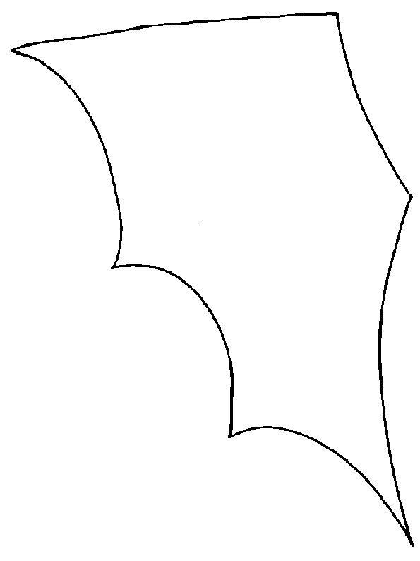Imprimer les ailes du cornet bonbons chauve souris for Gabarit chauve souris a imprimer