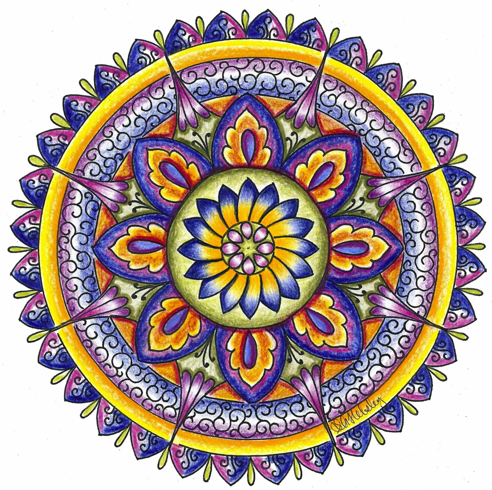 - Image Result For Examples Of Colored Mandalas Mandala Meaning