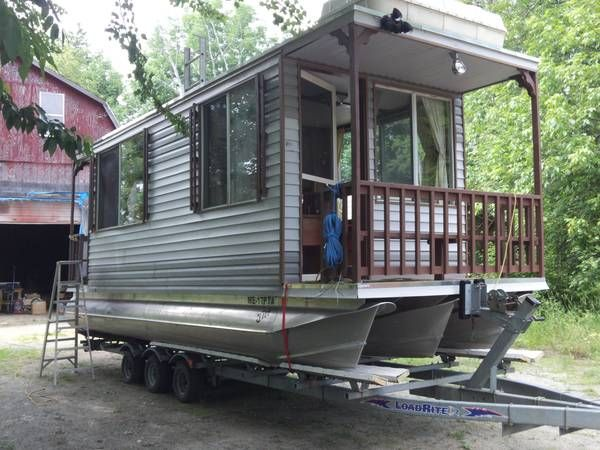 homemade pontoon houseboats pontoon houseboats for sale pontoon houseboat monmouth - Small Houseboat