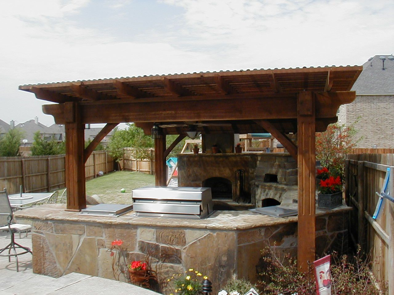 Outdoor Kitchen Roof Covers Welcome To Wayray The Ultimate Outdoor Experience Photo Gallery Gazebo Outdoor Fireplace Outdoor Kitchen Lighting