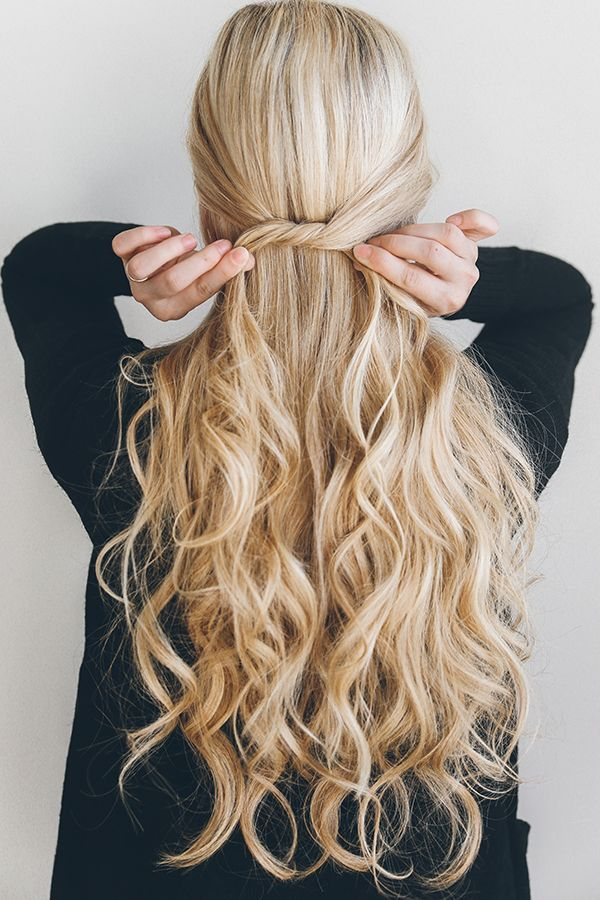 Hair How To The 1 Minute Knotted Half Updo Lauren Conrad