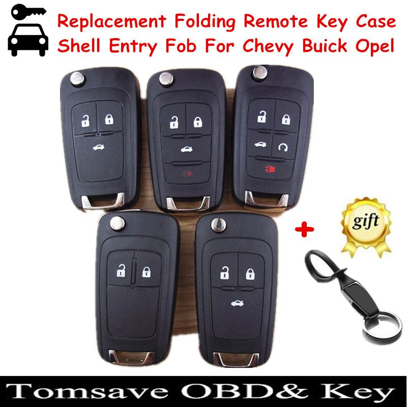 Free shipping replacement folding remote key shell case