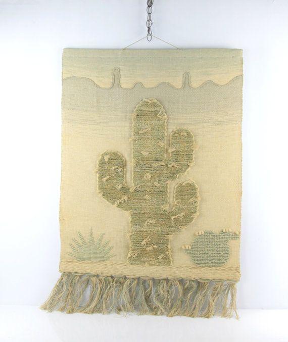 Vintage Large ICA Original Woven Wall Hanging // Vintage ...