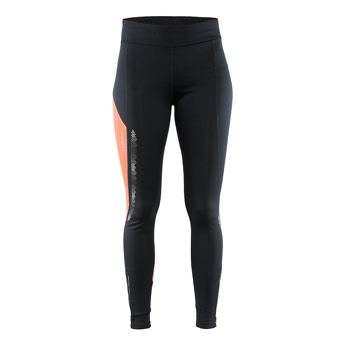 Warm high-visibility thermal tights with ergonomic fit and key/music pocket