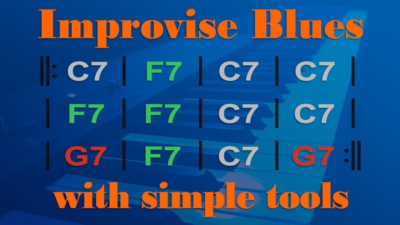 Learn Simple BLUES PIANO Improvisation | Pian in 2019