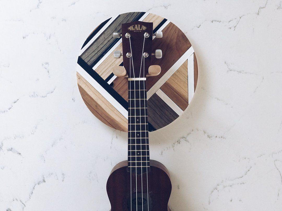 Reclaimed Wood Ukulele Or Guitar Mount Ukulele Wall