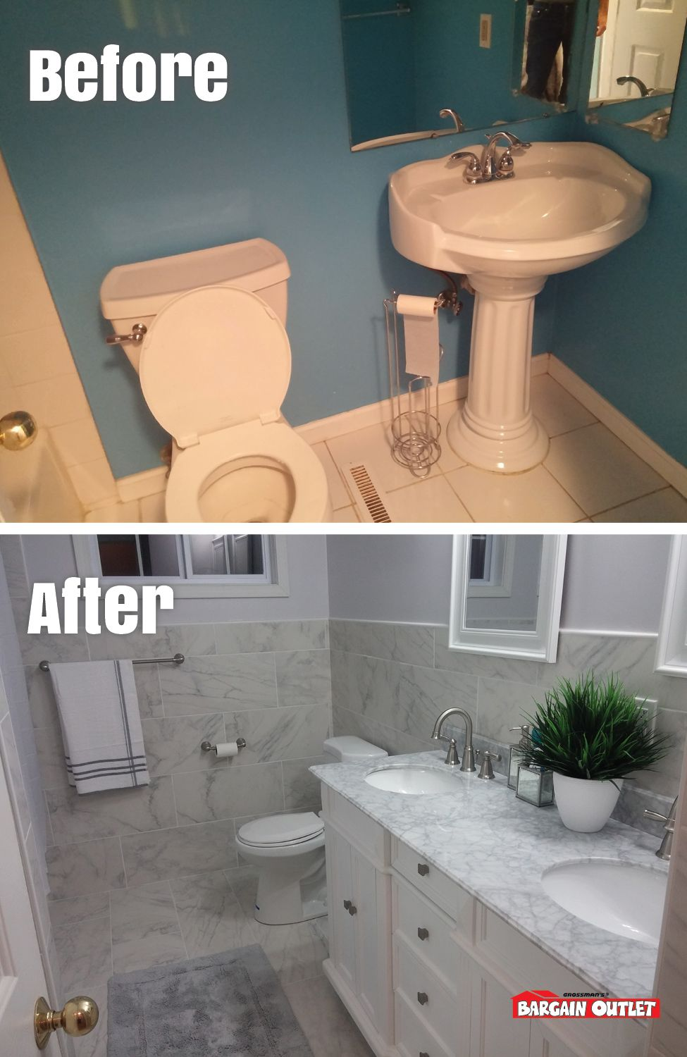 Bathroom remodel by Adisa V. of DeWitt, NY. In our very first home ...