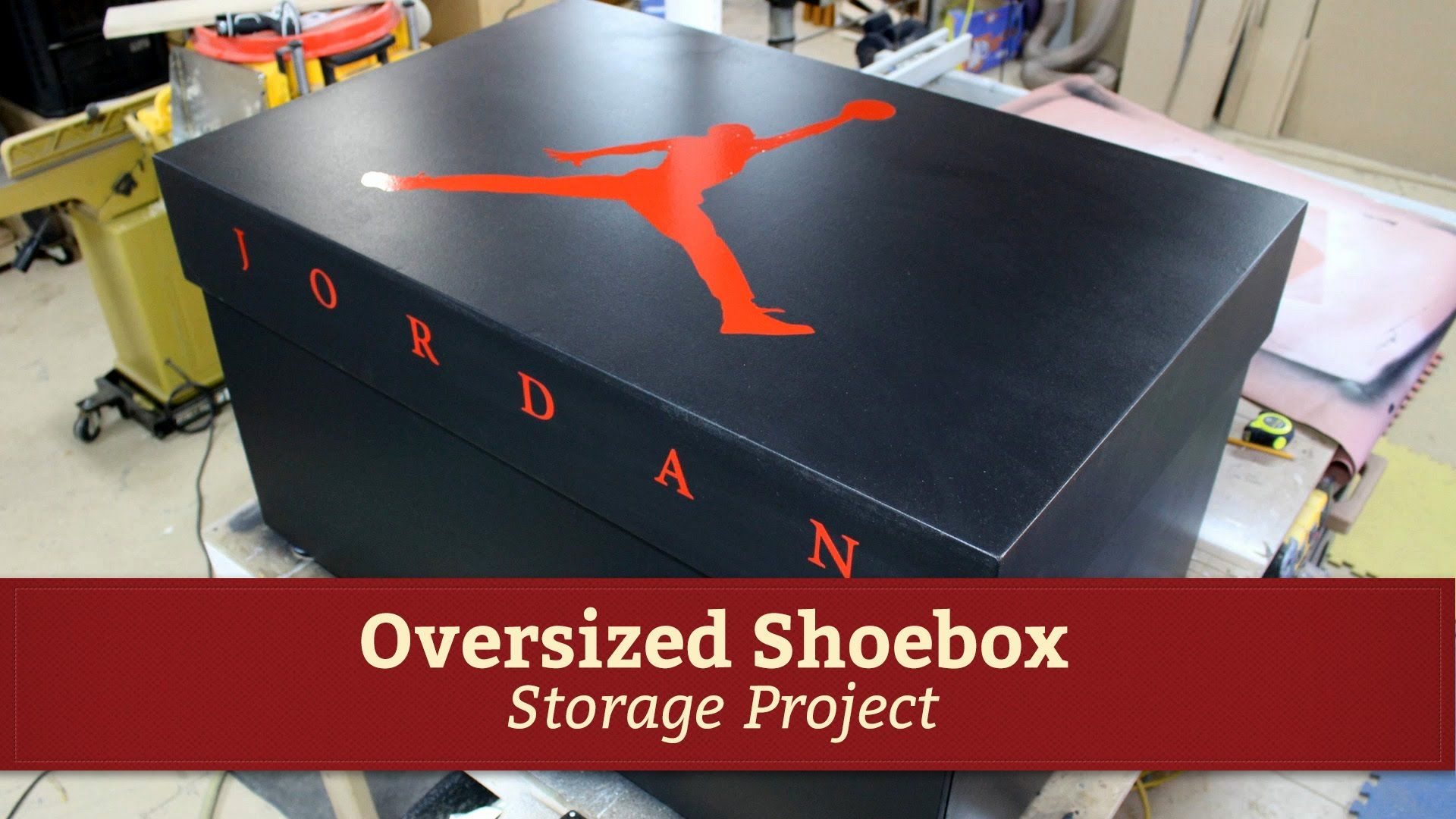 Adecuado Reactor explosión  Giant Air Jordan Shoe Storage Box Project by Glass Impressions | Air  jordans, Trendy mens shoes, Shoe storage