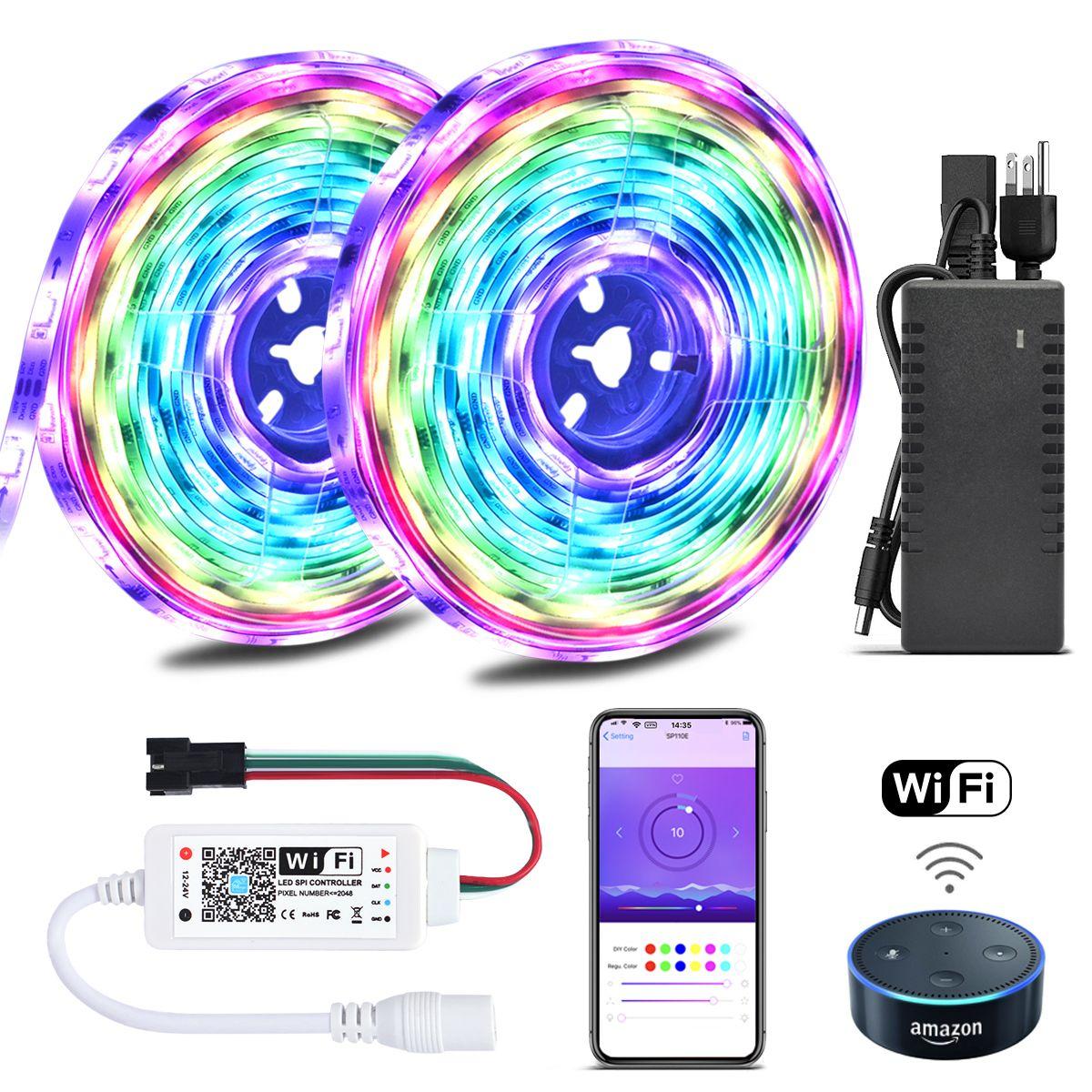 Color Chasing Alexa LED Strip Light Kit, 32.8Ft 10m