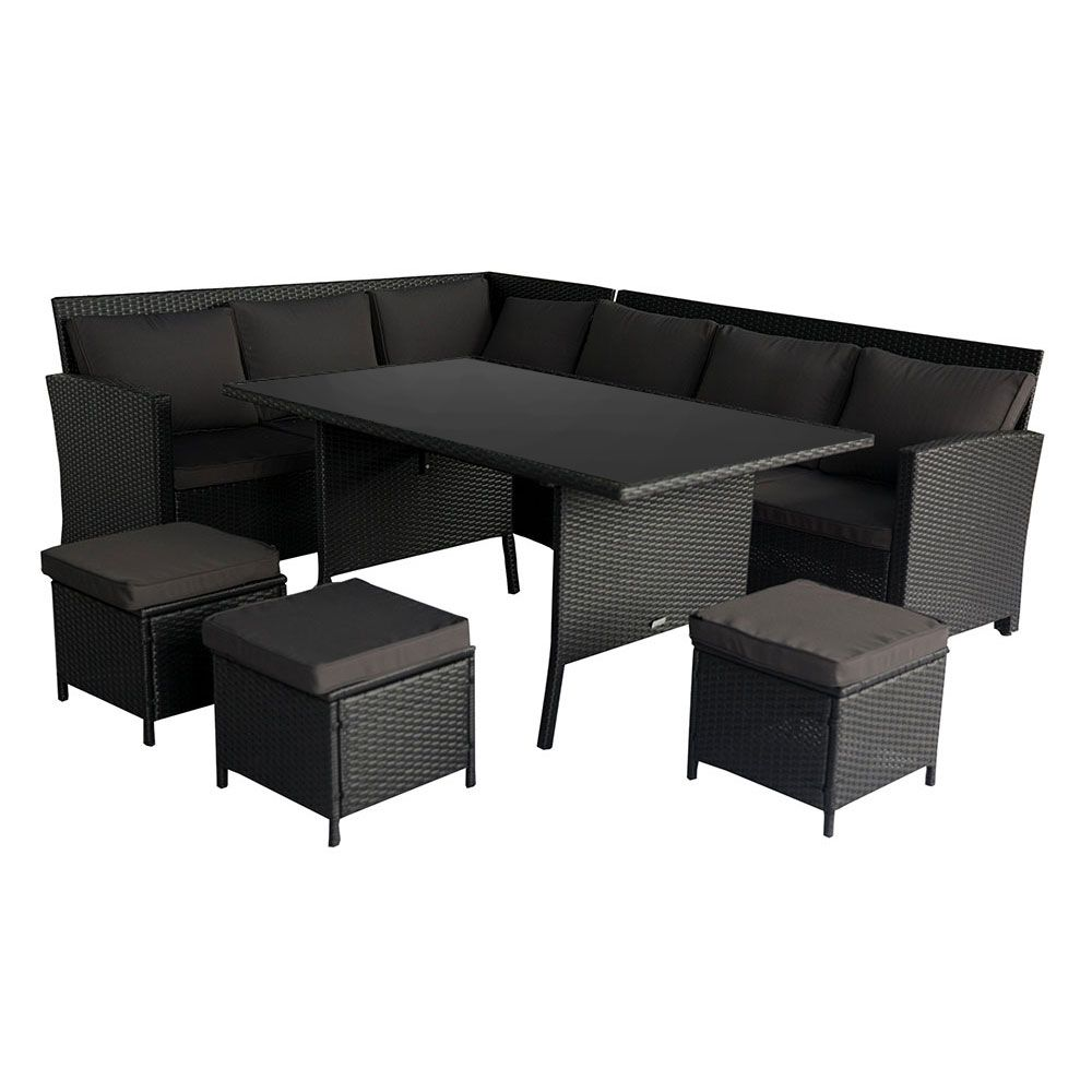White Wicker Sofa For Sale Country Table Plans Buy Luxo Miramar 2 In 1 Outdoor Dining Set Black Online Australia