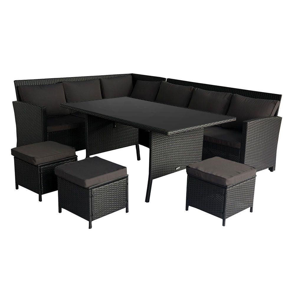 Buy Luxo Miramar 2-in-1 Wicker Outdoor Sofa Dining Set ... on Luxo Living Outdoor id=49047