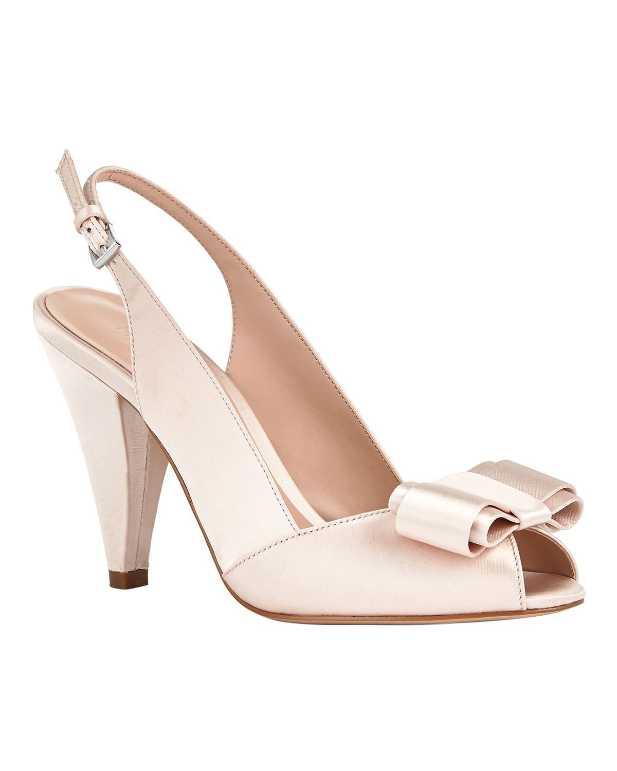 Phase Eight Belle Satin Peep Toe Shoes Pink  ad3014e62
