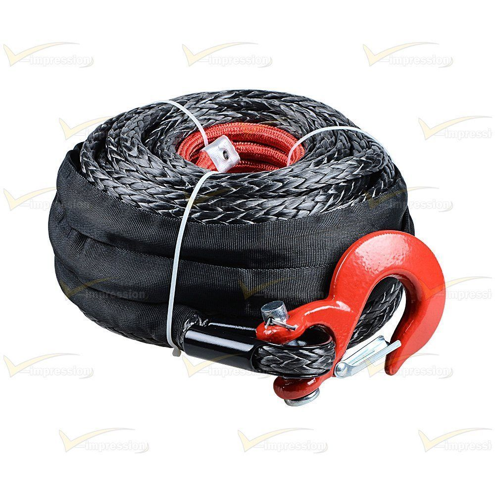 1 2 X 92 Synthetic Winch Rope Line Cable Hook Protective Sleeve 22000lbs Truck Vimpression With Images Synthetic Winch Rope Winch Rope Winch