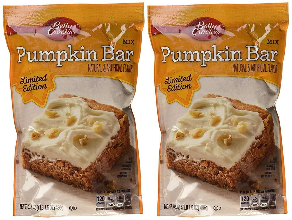 BettyCrocker PumpkinBar Mix 17.5 Oz (Pack of 2)