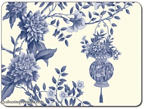 Jason Lightfoot House Placemats Set Of 4 Large By Jason 39 85 Durable Heat Sealed Surface Hardboard C Asian Placemats Placemats Blue And White Fabric