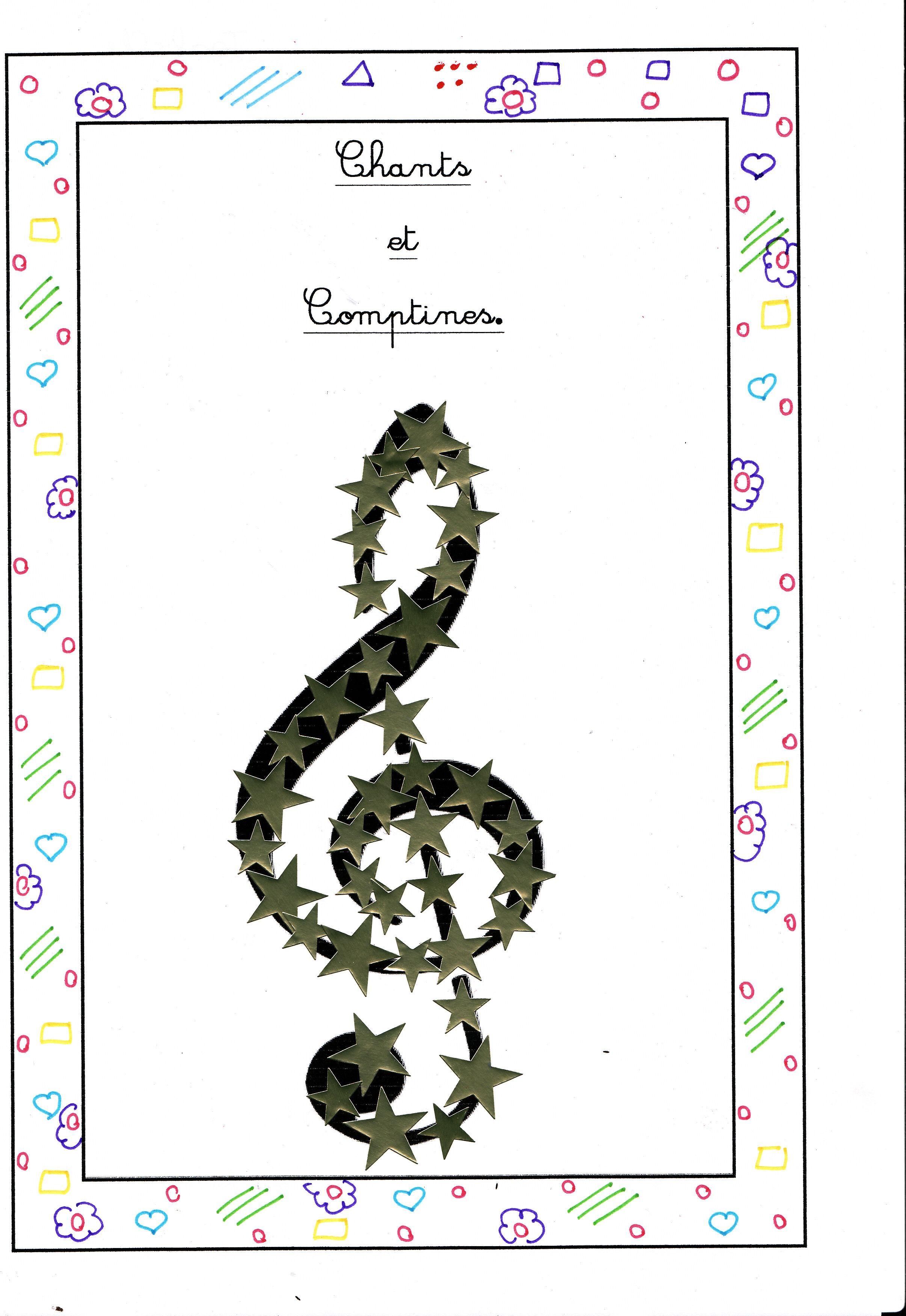 couverture pour cahier de comptines comptine et petites poesies pinterest comptines. Black Bedroom Furniture Sets. Home Design Ideas