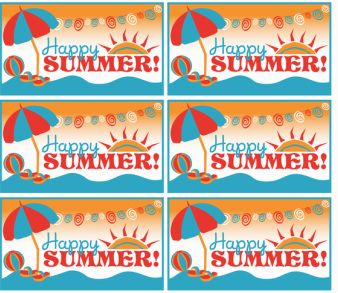Happy Summer printable FREE