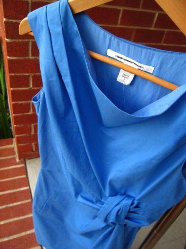 Starting bid: $75 New-Diane-Von-Furstenburg-DVF-Sheath-Dress-4-Sleeveless-Cotton-Blend-MSRP-345
