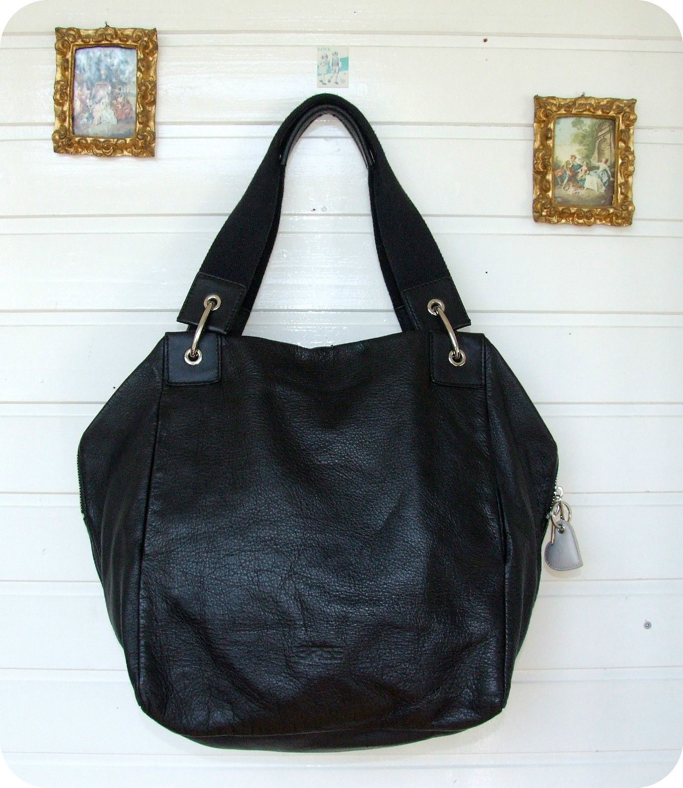 37f8e1df07454 BREE Leder Beutel Tasche Tote Bag Schultertasche Shopper XL SAC Leather  Purse in Kleidung   Accessoires