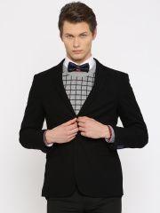 34266443f7a7 INVICTUS Black Slim Fit Single-Breasted Formal Blazer | Jabong Men's ...