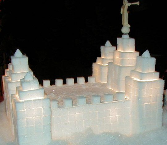 Temple made of sugar cubes!