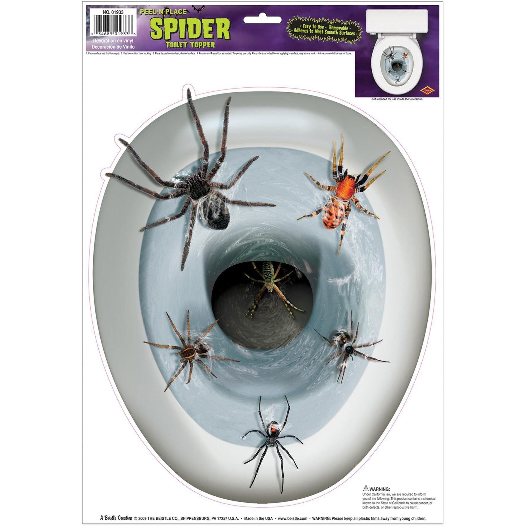 Spider Toilet Topper Peel N Pl