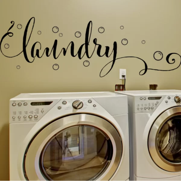 Winston Porter Laundry Wall Decal With Bubbles Wayfair Laundry Room Decals Kitchen Wall Decals Laundry Room Decor