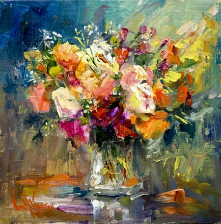 Nora Kasten Indiana Artist Self Taught Famous Oil Painting Flower Paintings