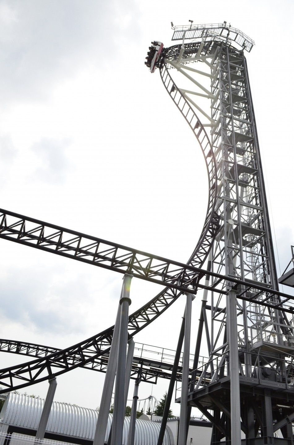 Takabisha- the world's steepest roller coaster in Japan. 120 degree angle straight down 150 ft