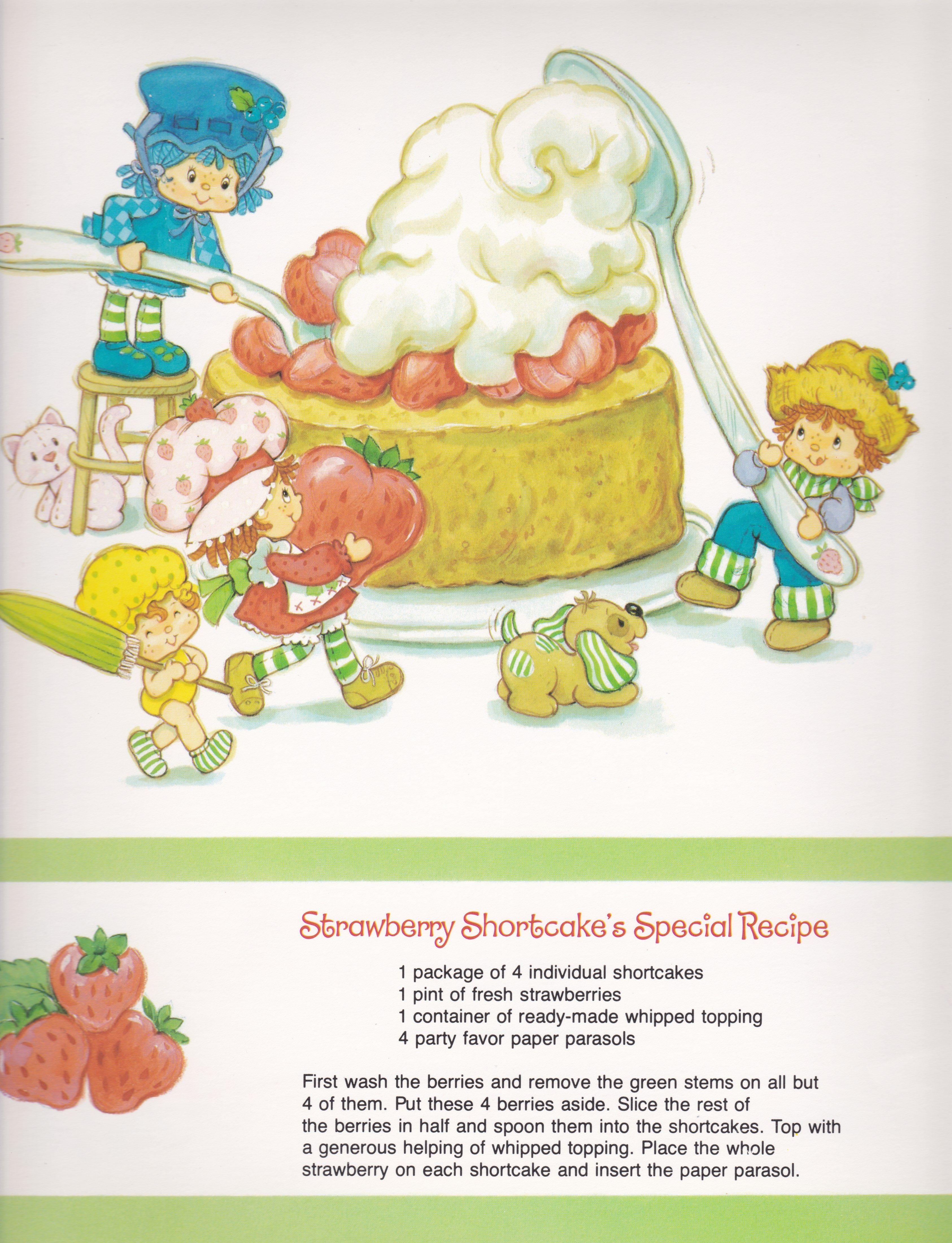 Ssc 1983 Sweet Treats Calendar January Vintage Strawberry