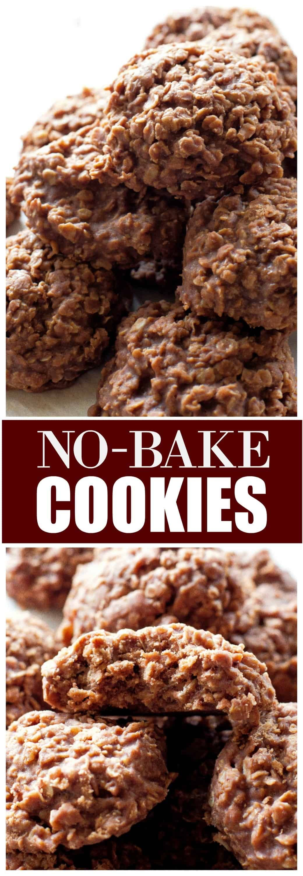 Cookies NoBake Cookies are chocolate peanut butter cookies made with oats Everything is done on the stove so you dont need to turn on your oven