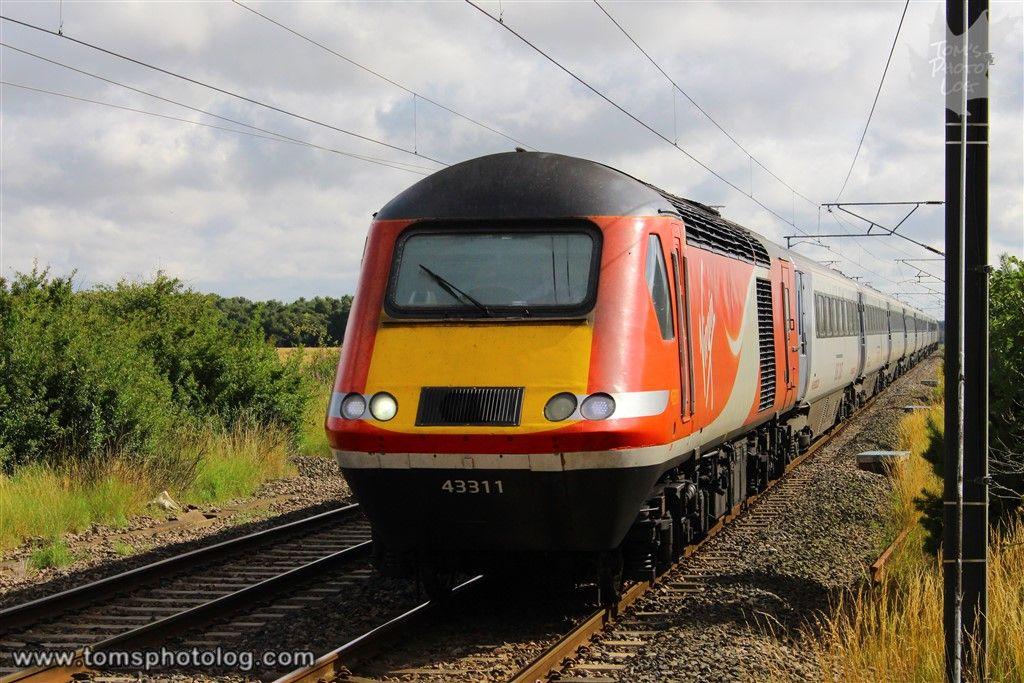 Virgin Trains East Coast Hst 43311 1s20 At Acklington 13 Aug 2015 Train British Rail Electric Train