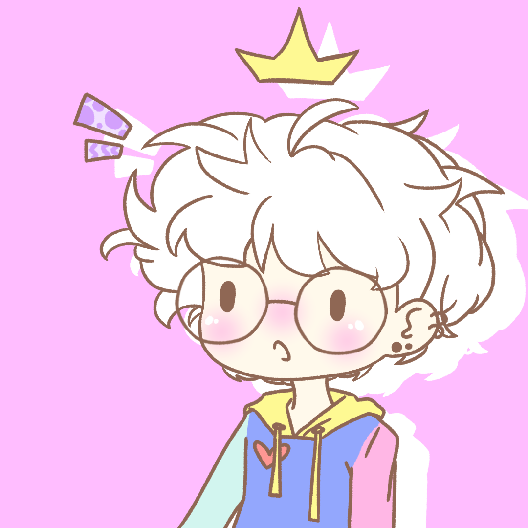 kawaii cute anime manga chibi boy man male white hair