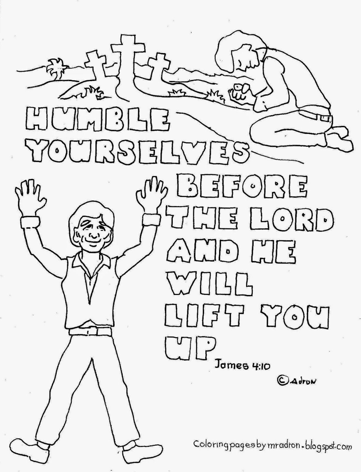 Humble yourselves james 410 coloring page