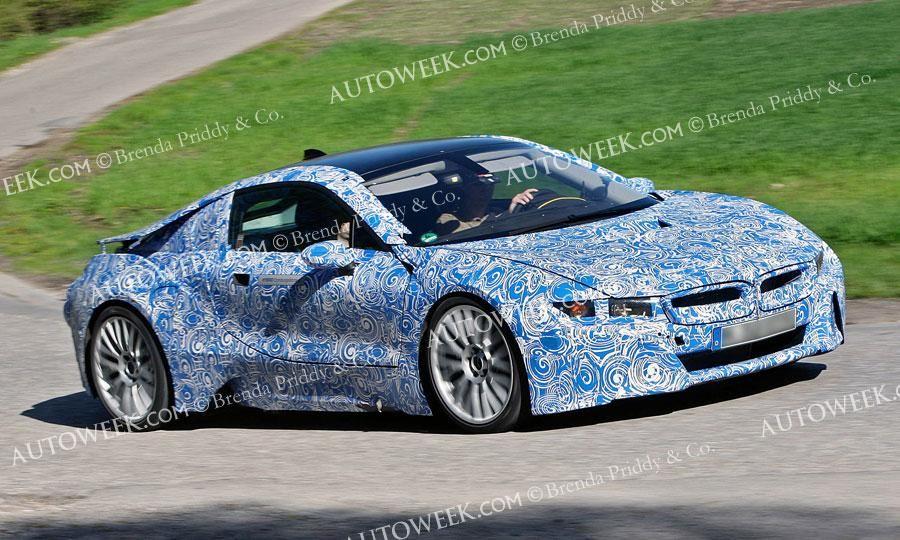 New BMW flagship, the hybrid i8, testing on a secret Swedish track.
