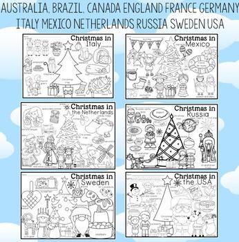 Christmas Around The World Coloring Pages And Vocabulary Posters Weihnachtsmalvorlagen Malvorlagen Weihnachten Vorlagen