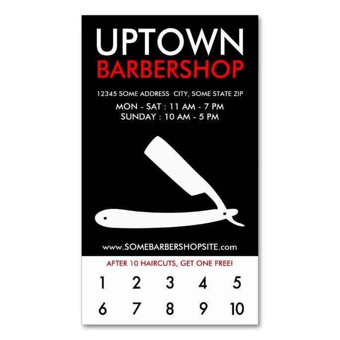 Uptown barbershop loyalty double sided standard business cards pack uptown barbershop loyalty double sided standard business cards pack of 100 make your own business card with this great design reheart Image collections