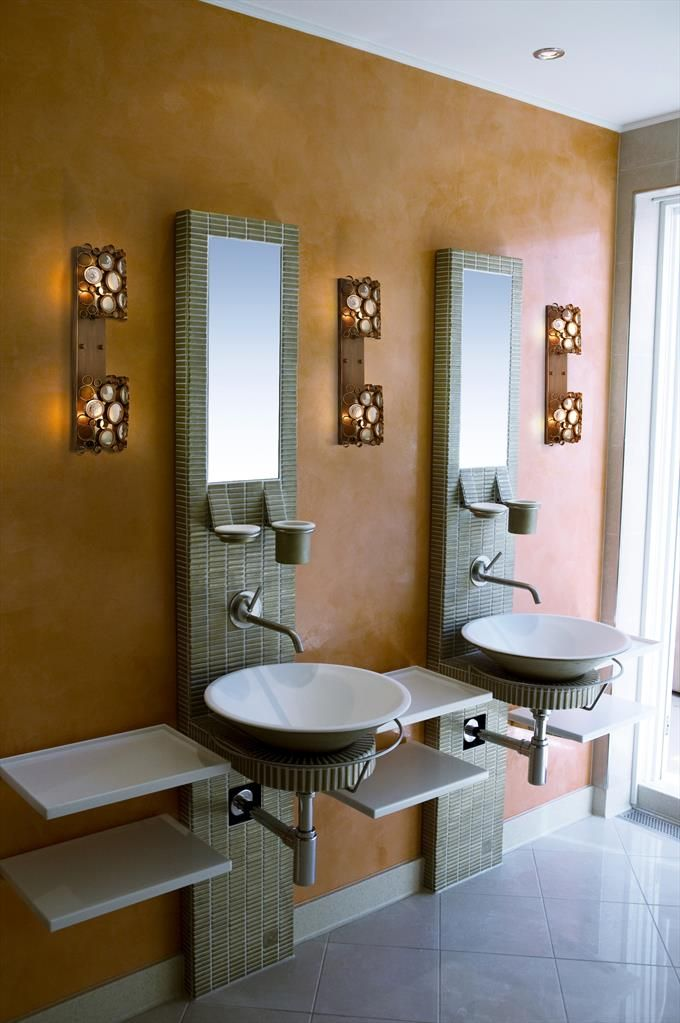 Fascination 2 Light Sconce In Hammered Ore | BATHROOM ENVY ...