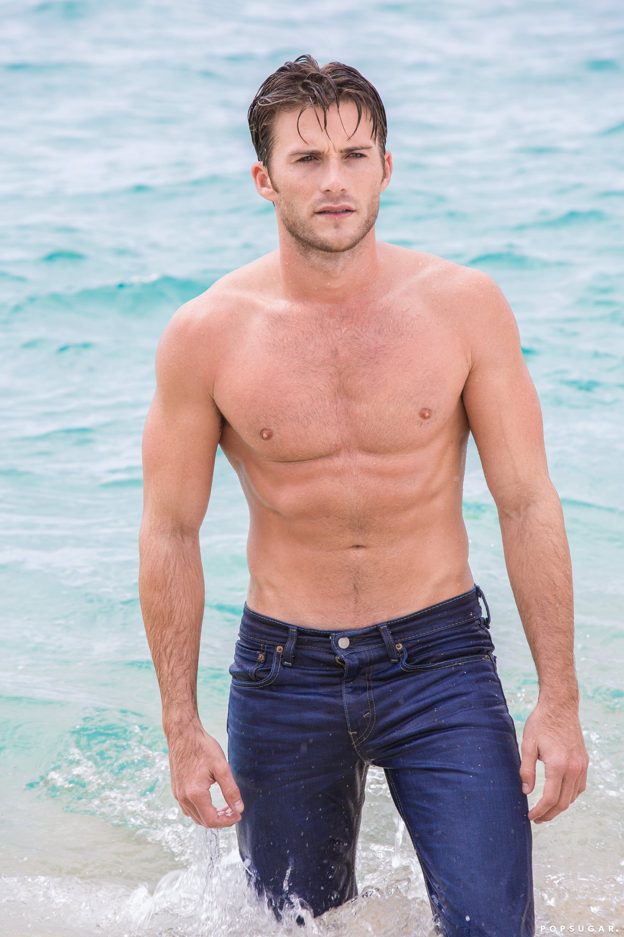 Scott Eastwood Gets Shirtless and Wet
