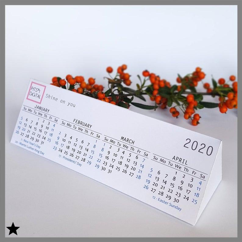 2020 Business Desk Calendar Corporate Gift Personalized Printable Calendar 3d Paper Block Employee Customer Gift Customized Calendar Customer Gifts Corporate Gifts Business Desk