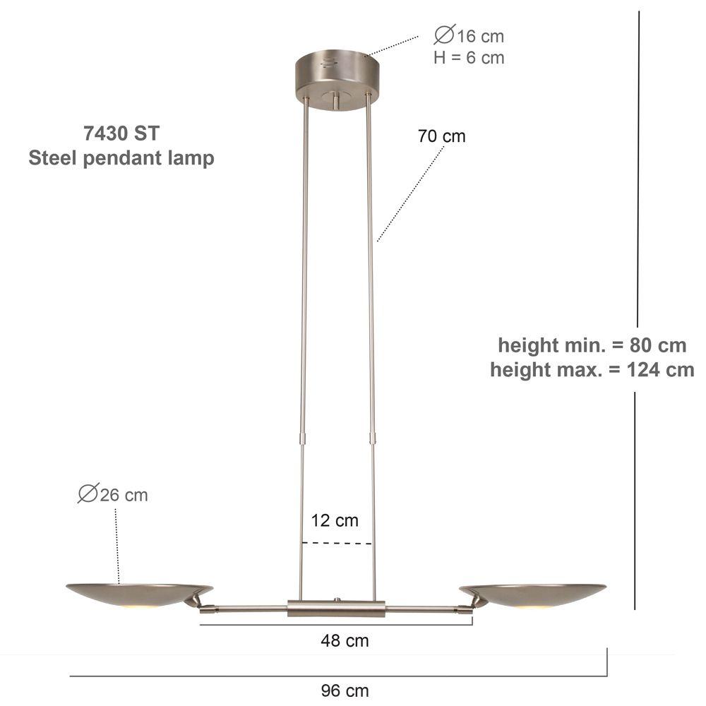 Hanglamp Tamara LED 7430ST Staal - Steinhauer verlichting   Lampen ...