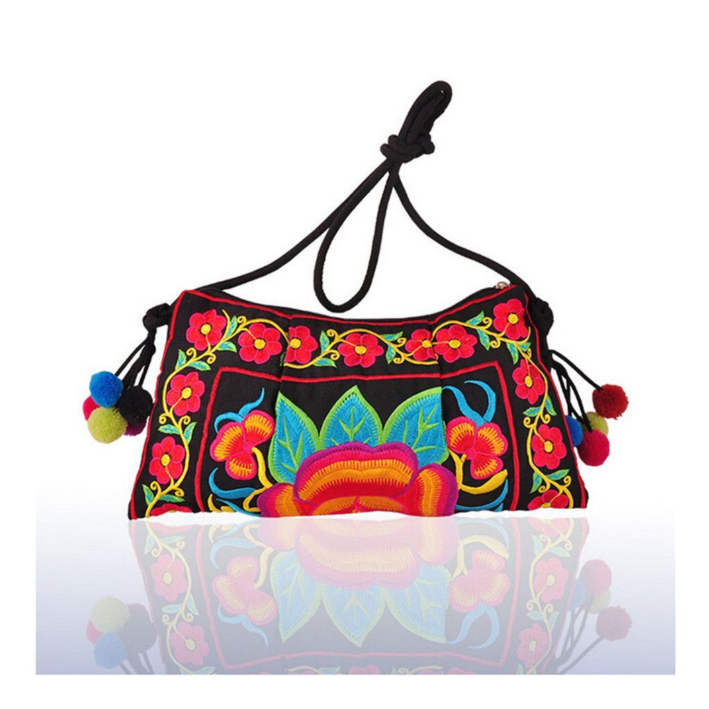 Embroidery Bag Yunnan National Chinese Style Embroidery Featured Messenger Bag Foreign Trade Bag Mmorning Glory