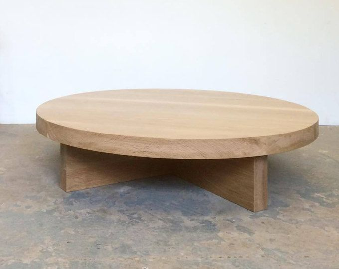 White Oak Coffee Table Round   Free Shipping Dylan Design Co.