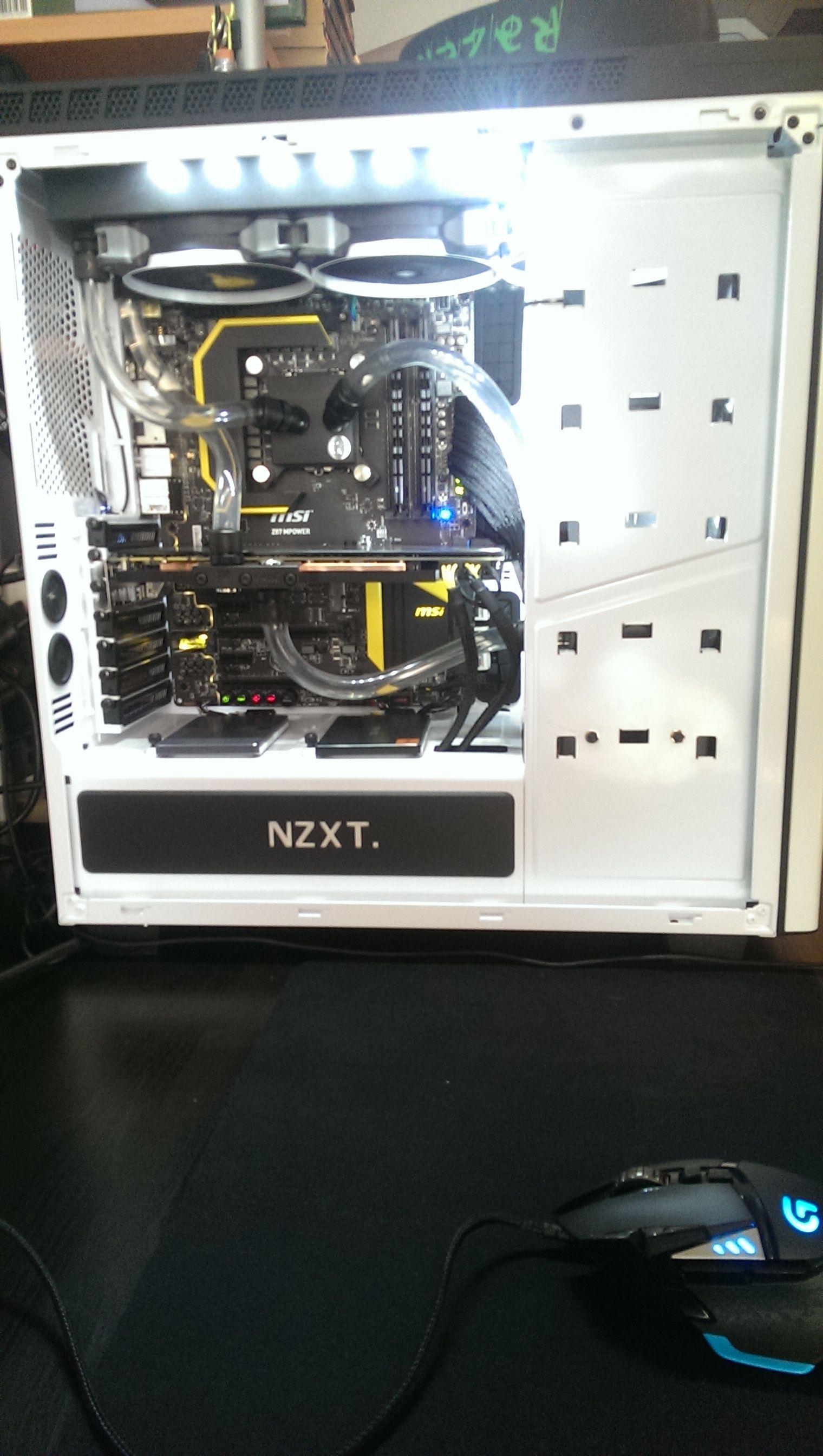 Nzxt H440 Ek Loop Build Building Computer Case Water Cooling
