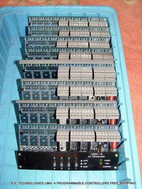 R.E. TECHNOLOGIES UMX- 4 PROGRAMMABLE CONTROLLERS HVAC FREE SHIPPING!  #RETECHNOLOGIES